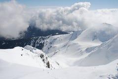 vinter för oklarhetsberglutning fotografering för bildbyråer