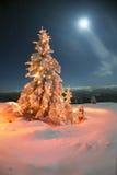vinter för saga för snow för härlig skog röd s för stuga finlandssvensk Arkivfoton