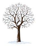 vinter för silhouettetreevektor royaltyfri illustrationer