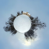 vinter för slottluznicaplanet Arkivbilder