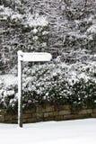 vinter för snow för coveringengland tecken royaltyfri bild