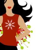 vinter för snowflake för modemodell royaltyfri illustrationer