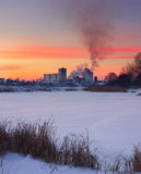 vinter för solnedgång för aftonberg s ural Royaltyfri Bild