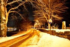 vinter för solnedgång för aftonberg s ural Arkivfoto