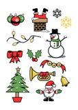 Vinter 2 för symboler för symbolsxmas-ferie Stock Illustrationer