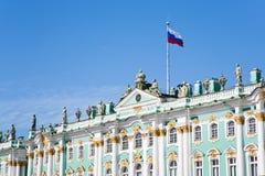 vinter för tillstånd för flaggaslottryss Royaltyfri Fotografi
