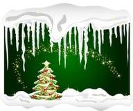 vinter för tree för bakgrundsjul kall royaltyfri illustrationer