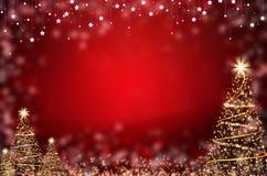 vinter för tree för bakgrundsjul röd Royaltyfria Foton