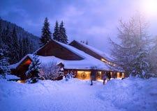vinter för trees för julliggandenoel Arkivbilder