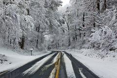 vinter för vägplatssnow Royaltyfri Fotografi
