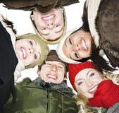 vinter för vängruppyttersida Royaltyfria Bilder