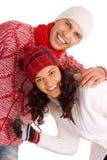 vinter för vänner två royaltyfria bilder
