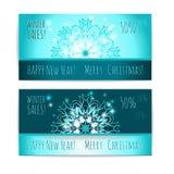 vinter för vektor för bakgrundsförsäljningstext Mall för tryck för juldesignvektor Royaltyfria Bilder