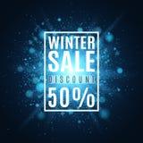 vinter för vektor för bakgrundsförsäljningstext Toppen försäljning för jul Räkning för ditt projekt En ljus ljusblixt med ilsken  vektor illustrationer