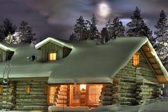 vinter för natt s Fotografering för Bildbyråer