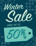 vinter för vektor för bakgrundsförsäljningstext Royaltyfria Bilder