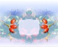 Vinter fryst suddig bakgrund med nypon stock illustrationer