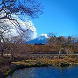 Vinter @ Fuji fotografering för bildbyråer