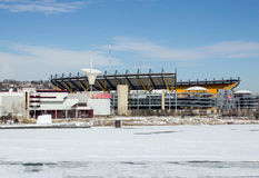 Vinter Heinz Stadium Arkivfoton