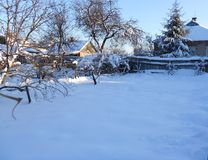 Vinter hemma Arkivbild