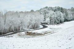 Vinter i östliga Texas Fotografering för Bildbyråer