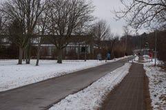 Vinter i Aalborg Danmark Royaltyfri Fotografi