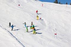 Vinter i alps royaltyfria bilder