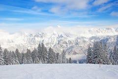 Vinter i alps Royaltyfri Fotografi