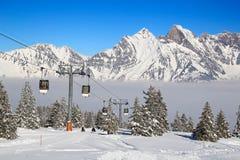 Vinter i alps Royaltyfri Foto