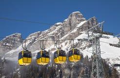 Vinter i alps arkivfoton