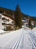 Vinter i alps fotografering för bildbyråer