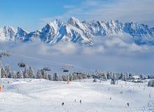 Vinter i alpsna royaltyfria bilder