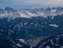 Vinter i alpsna Royaltyfri Foto