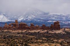 Vinter i bågar, nationalpark Royaltyfria Bilder