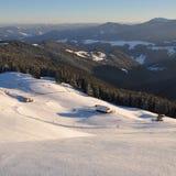 Vinter i berg royaltyfri fotografi