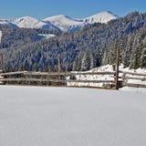 Vinter i berg royaltyfria foton