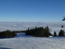 Vinter i berg Arkivfoton