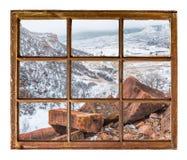 Vinter i bergdalen Arkivfoto