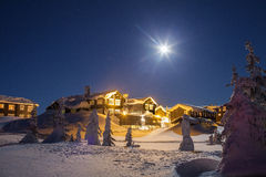 Vinter i bergen Arkivbild