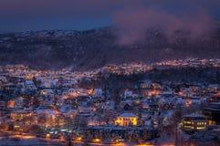 Vinter i Bergen, Norge Royaltyfri Fotografi