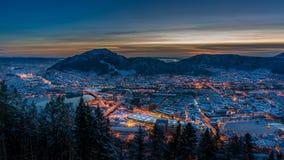 Vinter i Bergen, Norge Royaltyfri Bild
