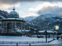 Vinter i Bergen, Norge Arkivbilder