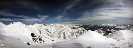 Vinter i bergskedja Arkivbild