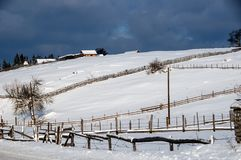 Vinter i Bosnien 2 arkivbilder