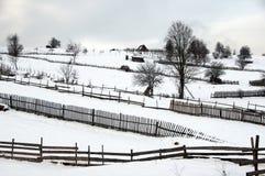 Vinter i Bosnien 4 arkivfoto