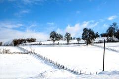 Vinter i Bosnien royaltyfri fotografi
