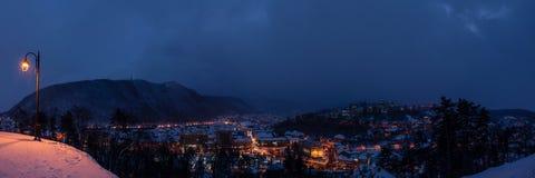Vinter i Brasov Arkivbild