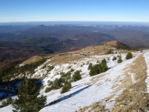 Vinter i de Crimean bergen Royaltyfri Bild