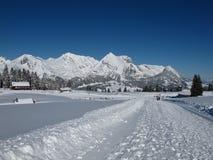 Vinter i de schweiziska alpsna, Mt Saentis Royaltyfri Fotografi