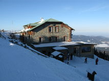Vinter i de snöig bergen Royaltyfri Fotografi